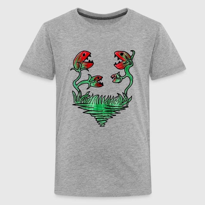 fleischfressende pflanze karnivore lustig von magicmonsters spreadshirt. Black Bedroom Furniture Sets. Home Design Ideas