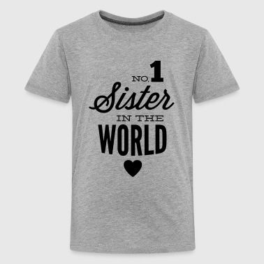 no1 sister of the world - Maglietta Premium per ragazzi