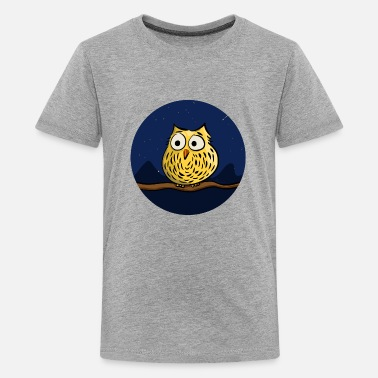 Night Owl Cute owl at night - Maglietta Premium per ragazzi