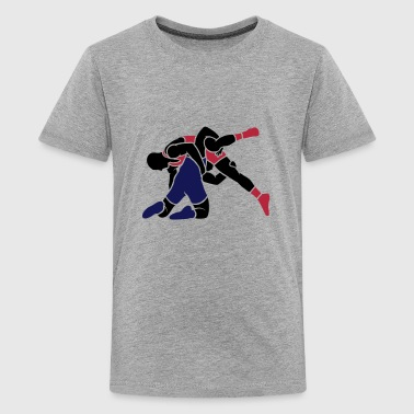 wrestling throw - Teenage Premium T-Shirt