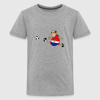 Croatian footballer - Teenage Premium T-Shirt