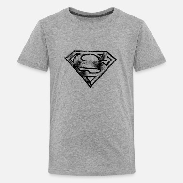 Clark Kent Superman S-Shield Logo black and white - Teenager premium T-shirt
