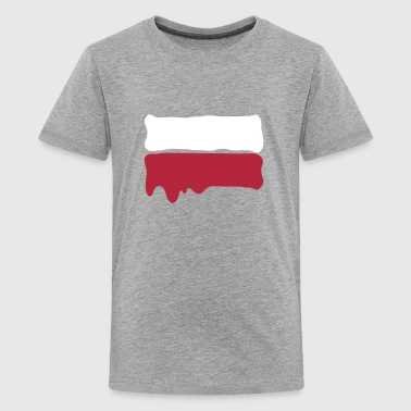 Runny paint flag Poland - Teenage Premium T-Shirt