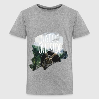 Just Go Outside - T-shirt Premium Ado