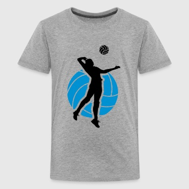 Volleyball Design - Camiseta premium adolescente
