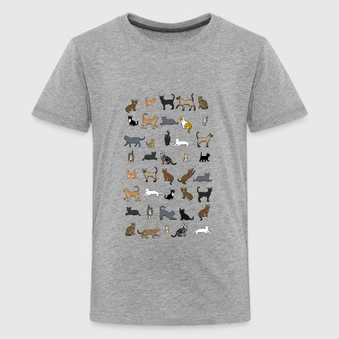 All cats - Premium-T-shirt tonåring