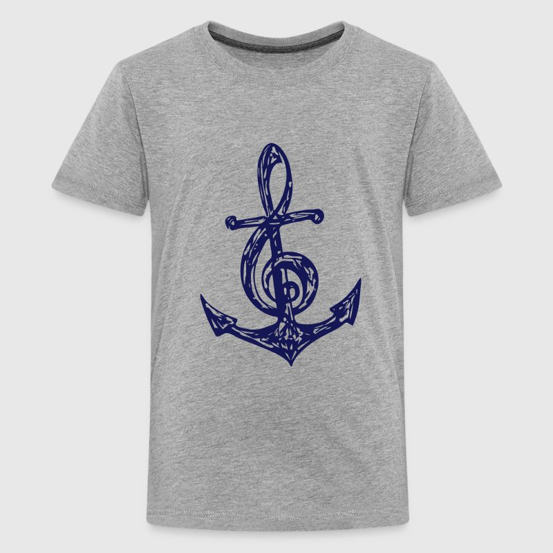 Anker, Musik Note, Musiknote, Notenschlüssel, Bass - Teenager Premium T-Shirt