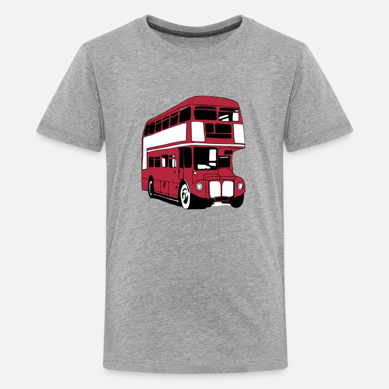 Bus T-Shirts - London-Bus (3 color) - Teenage Premium T-Shirt heather grey