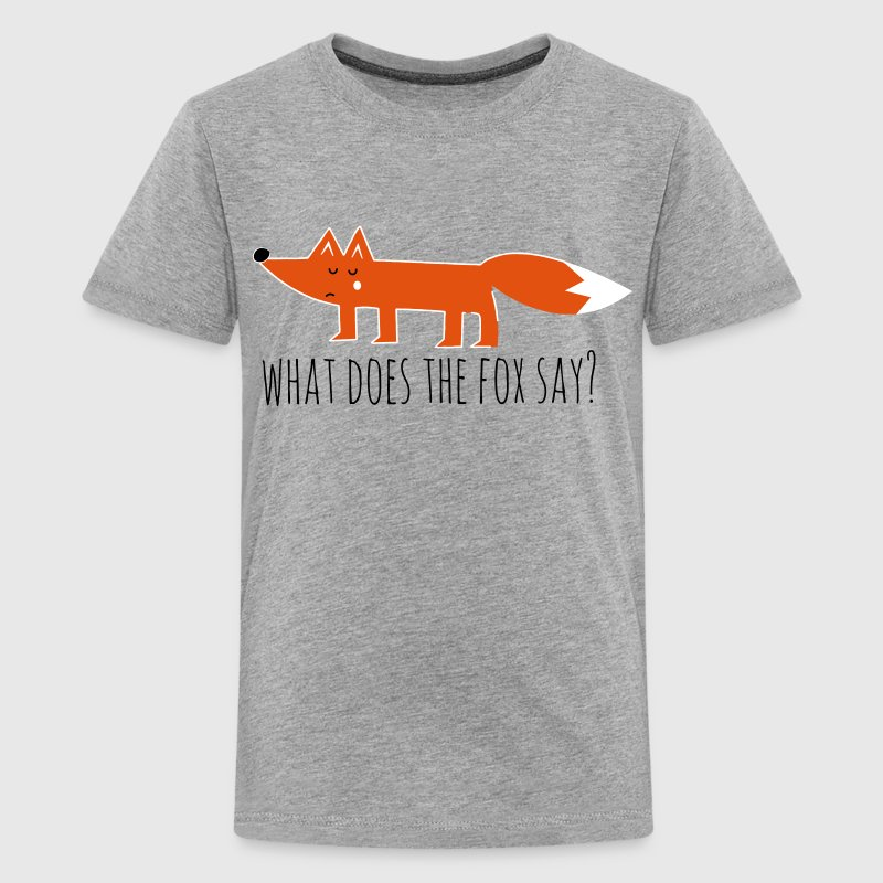 Funny what does the fox say ring ding meme song - Teenager premium T-shirt