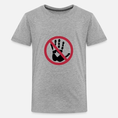 Touche Handprint - Do not touch! - T-shirt Premium Ado