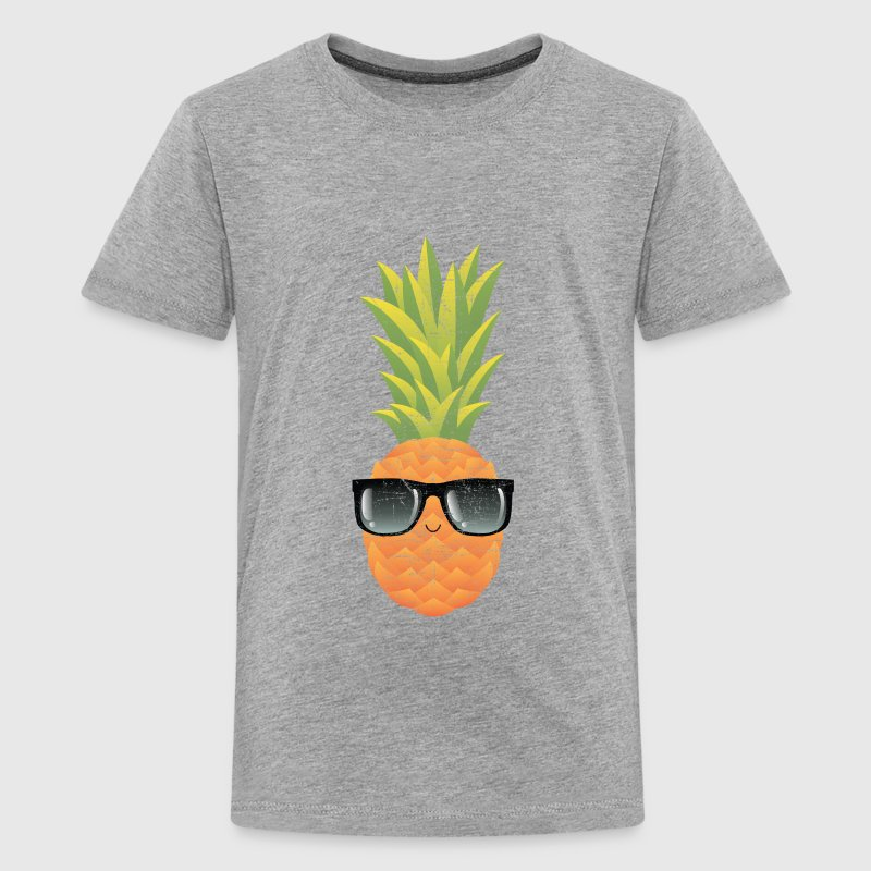 Pineapple With Sunglasses | Cool Illustration - Teenage Premium T-Shirt