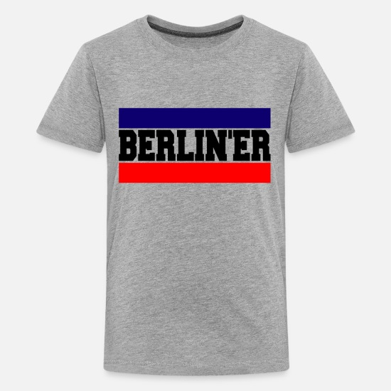 Berlin T-Shirts - Berliner neu - Teenager Premium T-Shirt Grau meliert