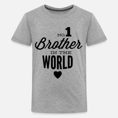 Grote Broer no1 brother of the world - Teenager Premium T-shirt