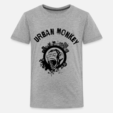 Direkte Digitaltryk Urban abe (spejlvendt), city monkey, DD - Premium T-shirt teenager