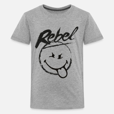 SmileyWorld Rebel Rebellischer Smiley - Teenager Premium T-Shirt