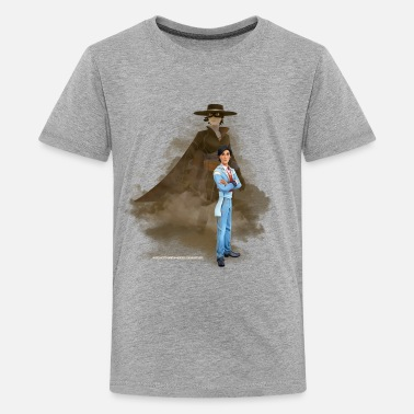 Zorro The Chronicles Don Diego Double Life - Teenage Premium T-Shirt
