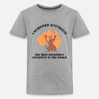 I survived Australia - Australien Fan - Teenager Premium T-Shirt