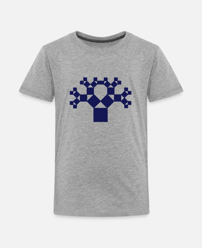 Darwin T-Shirts - Pythagoras tree, fractal - patterns of creation - Teenage Premium T-Shirt heather grey