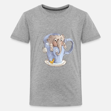 Elefant in der Tasse - Teenager Premium T-Shirt