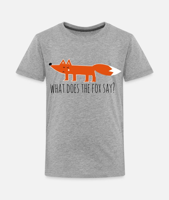 Hipster T-Shirts - Funny what does the fox say ring ding meme song - Teenage Premium T-Shirt heather grey