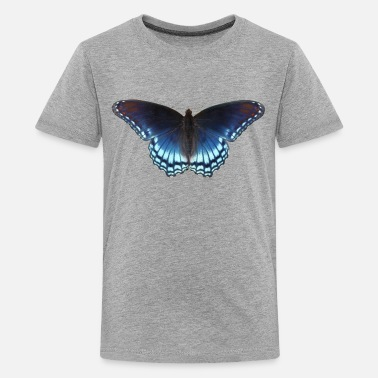 Butterfly in blue with great gradient - Teenage Premium T-Shirt