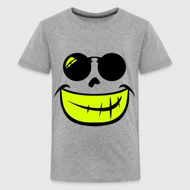 Smiley runde Sonnenbrille Lächeln 209 - Teenager Premium T-Shirt