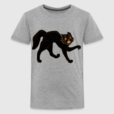 Scary Black Cat - Teenage Premium T-Shirt