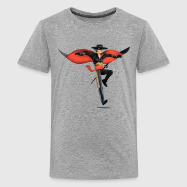 Zorro The Chronicles With Sword And Whip - Camiseta premium adolescente