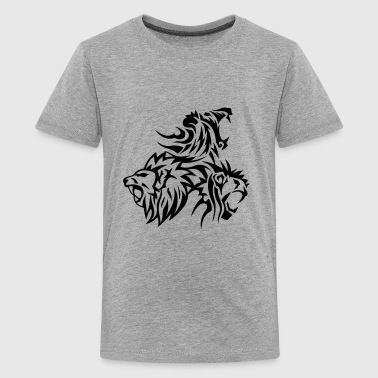 lion tribal tatouage dessin 14031 - T-shirt Premium Ado