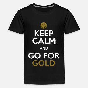 Sportif SmileyWorld Keep Calm and Go for Gold - T-shirt Premium Ado