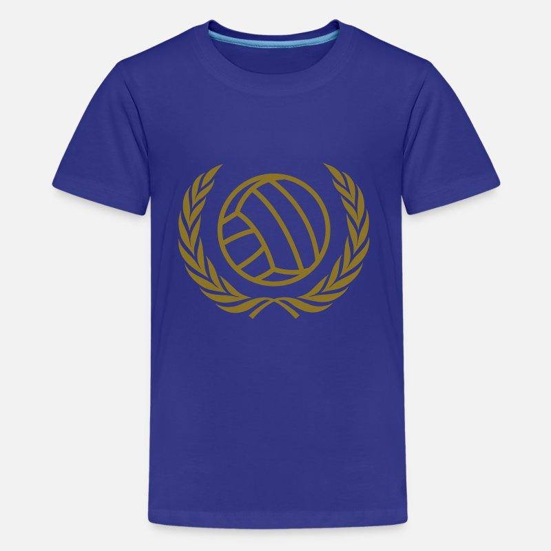 Roi Ado Bleu Shirt T Volleyball Premium rdsCxBtQh