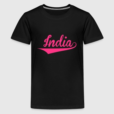 India - Premium-T-shirt tonåring
