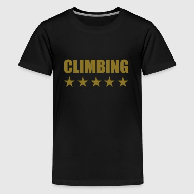 Climbing - Teenage Premium T-Shirt