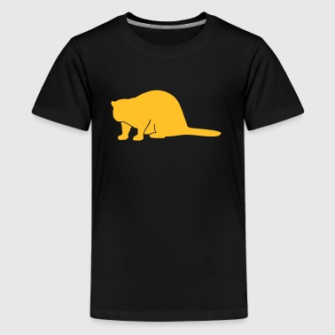 Wildtiere: der Biber - Teenager Premium T-shirt