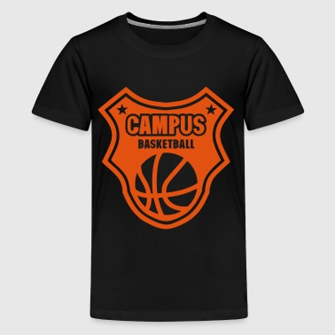 basketball campus logo fanion ecusson - T-shirt Premium Ado