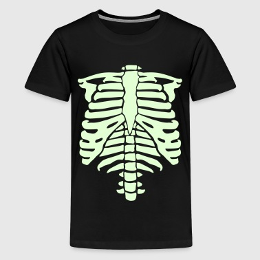 Phosphorescence skeleton - Teenage Premium T-Shirt