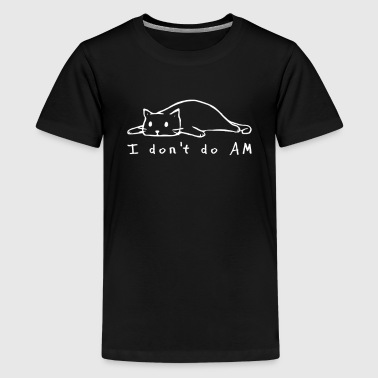 Katze Morgenmuffel - Teenager Premium T-Shirt