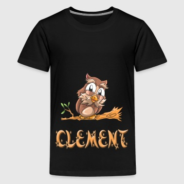 Eule Clement - Teenager Premium T-Shirt