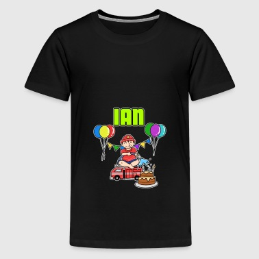 Fire Department Ian gift - Teenage Premium T-Shirt