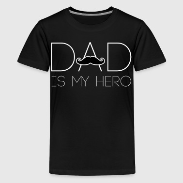 Father beard superhero gift idea - Teenage Premium T-Shirt