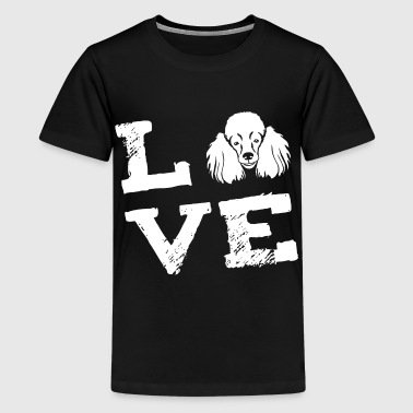 LOVE - poodle - Pudel - Teenager Premium T-shirt