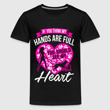 My Heart - Full with Dogs - EN - Teenager Premium T-shirt