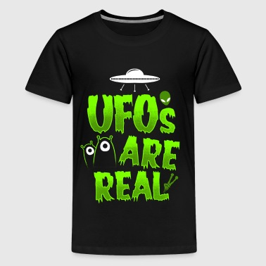 Scully UFOs are real - EN - Teenage Premium T-Shirt