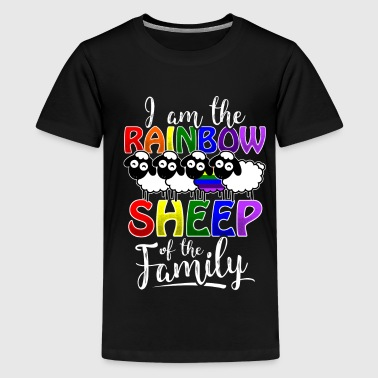 Rainbow Sheep - Gay Pride - Teenage Premium T-Shirt