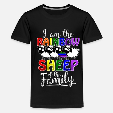 Rainbow Pride Rainbow Sheep - Gay Pride - Teenage Premium T-Shirt