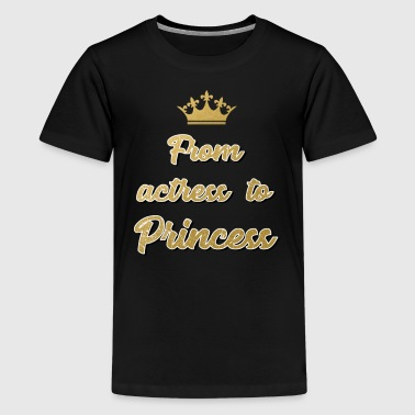 Konigshuis Van Actrice naar Princess Prince Royal Wedding - Teenager Premium T-shirt