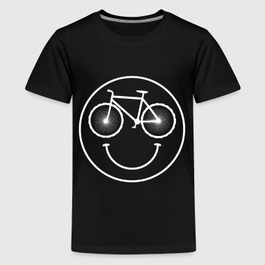Smiley voor de fiets - Teenager Premium T-shirt