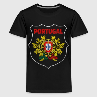 Portugal Nationalsymbol Nationalfarben Wappen Welt - Teenager Premium T-Shirt