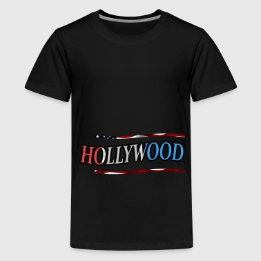 Hollywood - Premium T-skjorte for tenåringer
