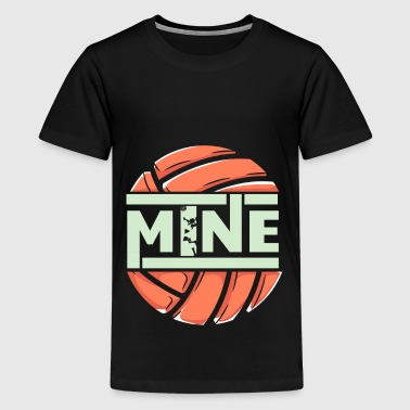 funny love mine volleyball - Teenager Premium T-Shirt